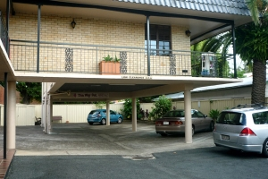 Under cover parking at In Town Motor Inn Taree